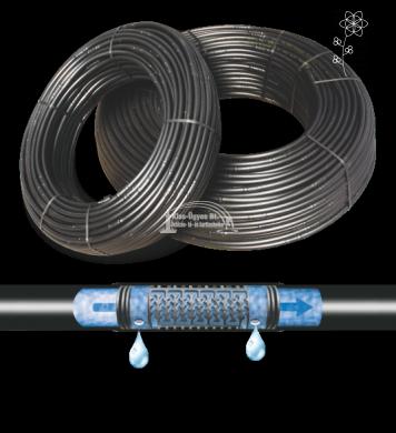 Polidrip Light nyomáskompenzált csepegtető cső 20/50cm,  2 l/h, . . . . 300 fm/tekercs, gyümölcsösbe . . ár/fm