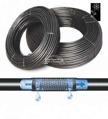 Polidrip nyomáskompenzált csepegtető cső 20/33cm, 2L/h  100-300 fm/tekercs, ár/fm